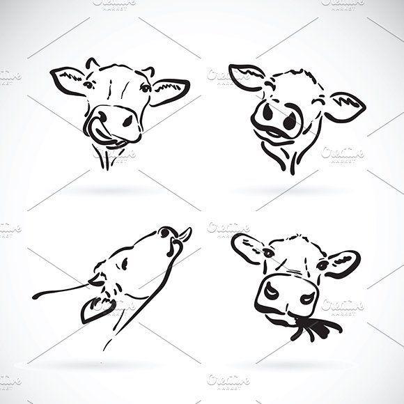 Vektor des Kuhkopfes Bauernhoftier von yod67 auf Creative Market  Vektor des Kuhkopfes Bauernhoftier von yod67 auf Creative Market