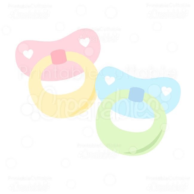 "Baby Pacifiers"" FREE SVG Cutting Files & Clipart includes: SVG ..."