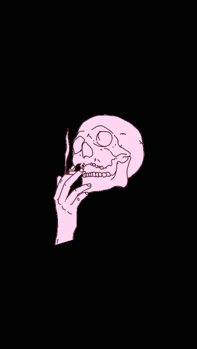 Skulls Tumblr Aesthetic: Pin De Bella