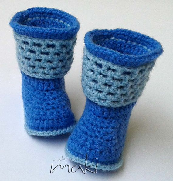 Crochet pattern baby boots Instant download No by MakiCrochet ...