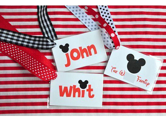 Diy Disney Bag Tags Disney Pinterest Best Disney Packages