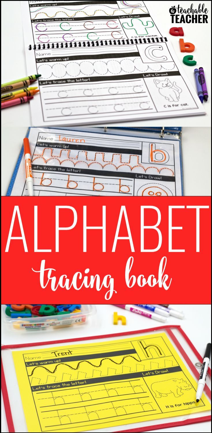 Alphabet tracing printables that are great back to school activities!  The kids will love getting to trace and draw the picture after practicing handwriting!