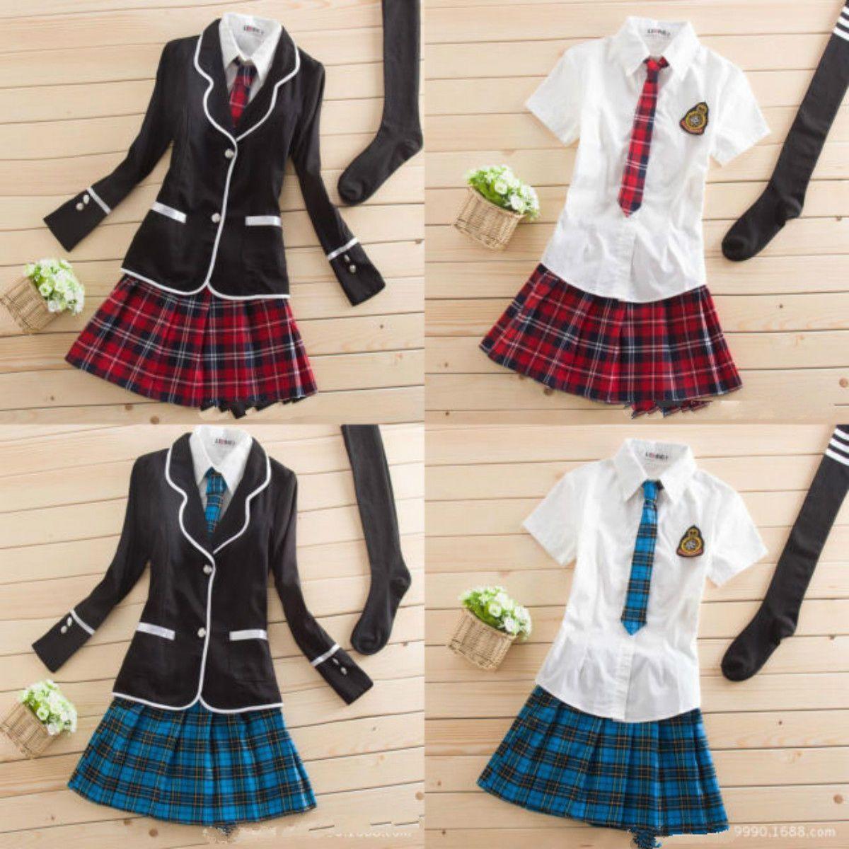 New Japanese School Girl Cute Sailor Uniform Dress Full Set Cosplay Costume School Girl Costume Cosplay Outfits School Uniform Outfits