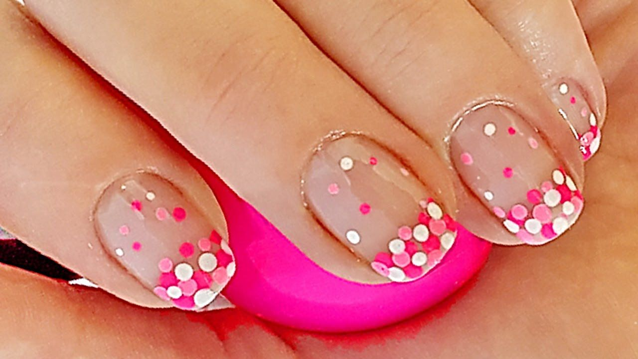 French Manicure Nagel Ontwerpen French Manicure Met Stippen Nail