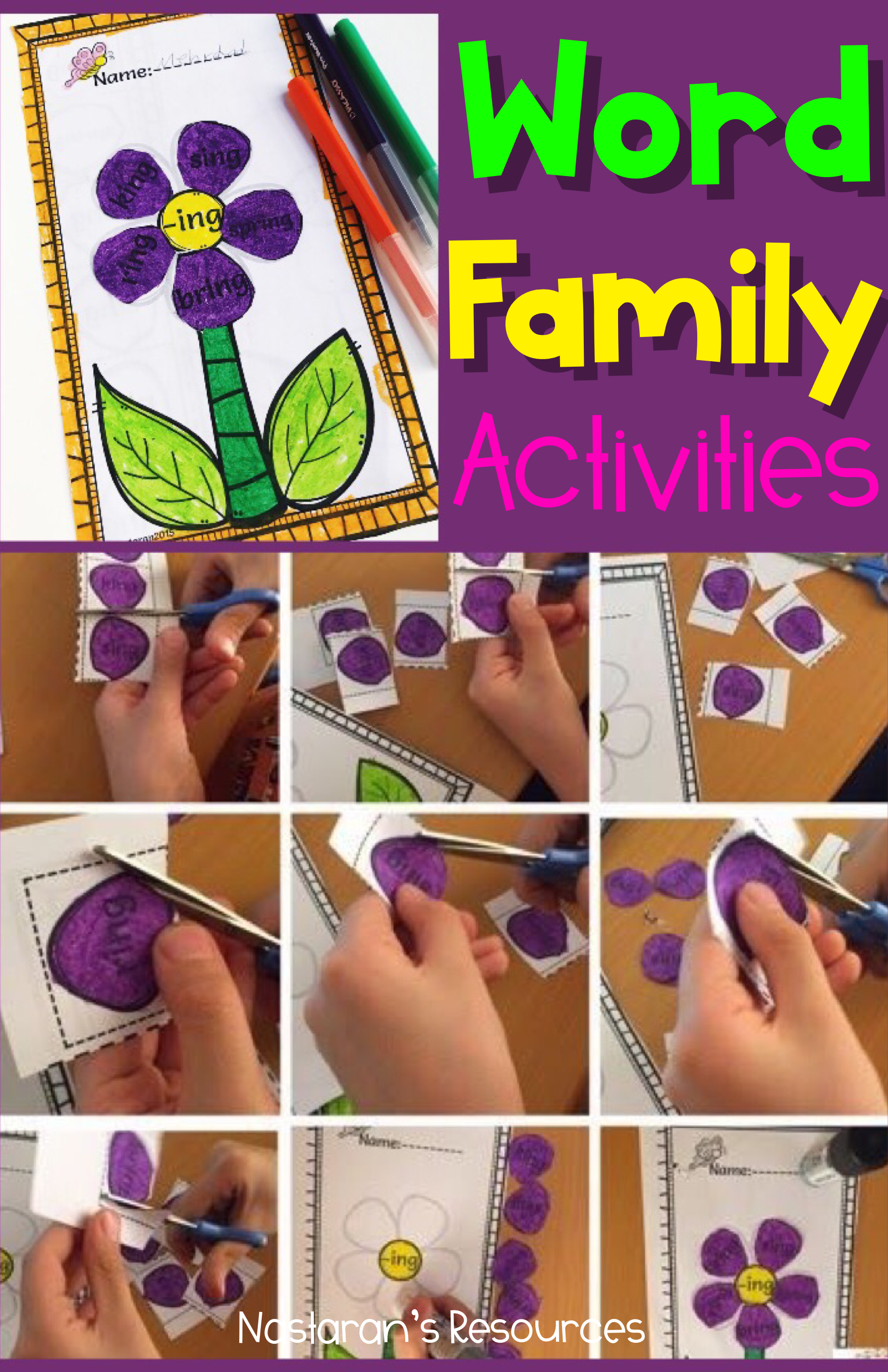 Word Work Activities Word Families Worksheets Worksheets