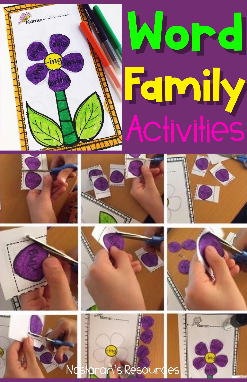 Word Work Activities Word Families Worksheets Worksheets Flower