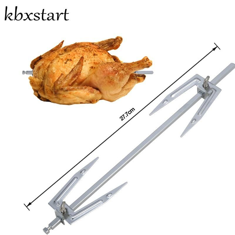 Grilled Roast Chicken Fork Stainless Steel Rotisserie Parts