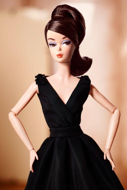 Classic Black Dress Barbie® Doll (Brunette) | barbie | Pinterest ...