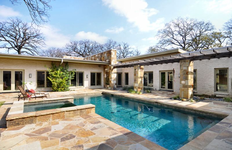 Courtyard Pool Shaped House Plans With Courtyard Pool Image