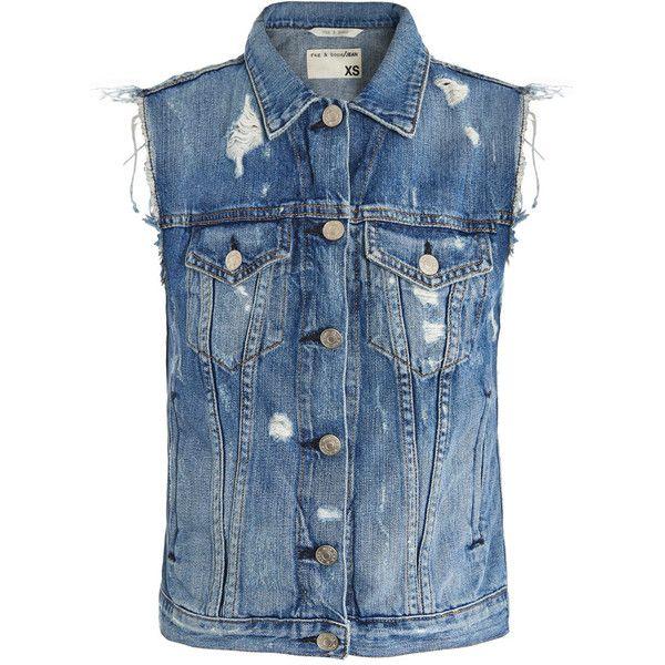 Womens Ladies Blue Wash Buttoned Sleeveless Denim Vest Gilet Jacket