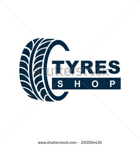 Stock Vector Tyre Shop Logo Design Tyre Business Branding All Car