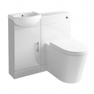 Image Gallery For Website Marsten Combined Bathroom Vanity Unit mm Gloss White Suite Unit with Toilet and Basin