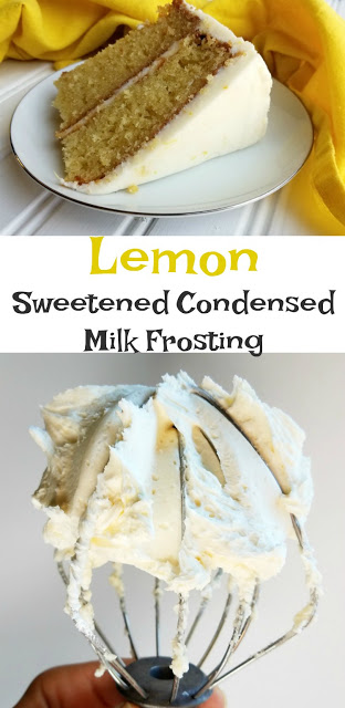Lemon Sweetened Condensed Milk Buttercream #lemonfrosting