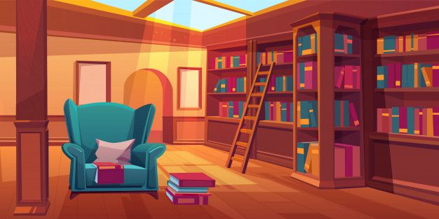 Download Empty Room With Wooden Bookshelves for free ...