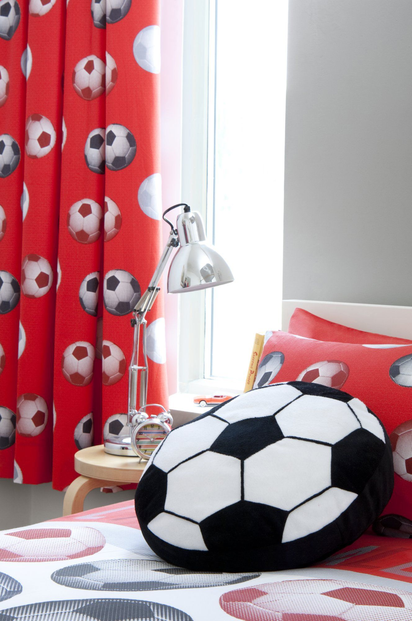 Buy Catherine Lansfield Football Curtains 165cmx180cm Red Curtains Argos In 2020 Boys Room Decor Little Boy Bedroom Ideas Bedroom Themes