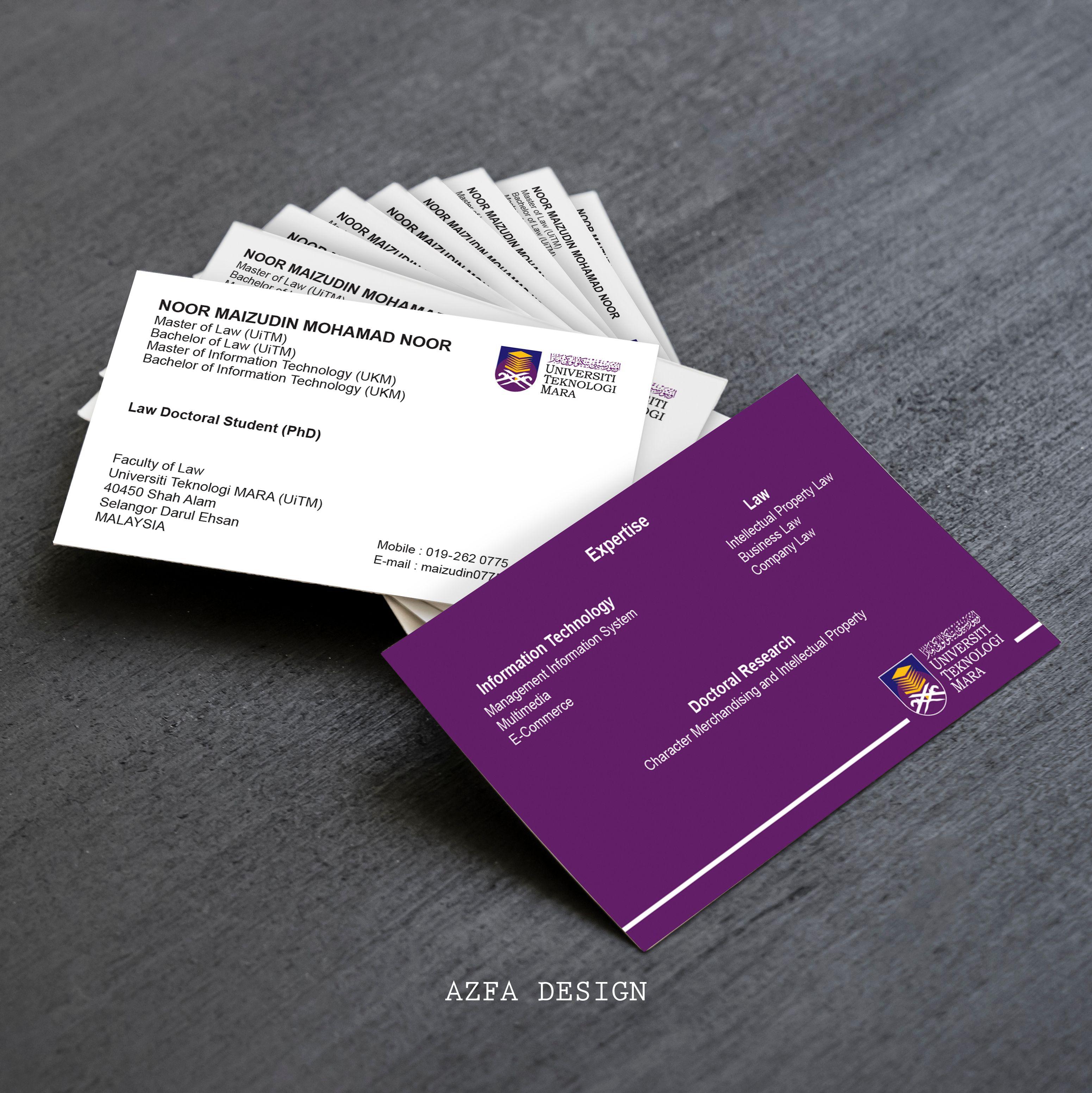 Azfadesign Bisneskaddesign Anda Merupakan Orang Penting Dalam Syarikat Seperti Ceo Director Project Manager Atau Business Law Information Technology Cards