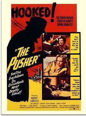 The pusher, #drugs #exploitation movie #poster, 1960s (30x40cm art print). free s,  View more on the LINK: http://www.zeppy.io/product/gb/2/162011217751/