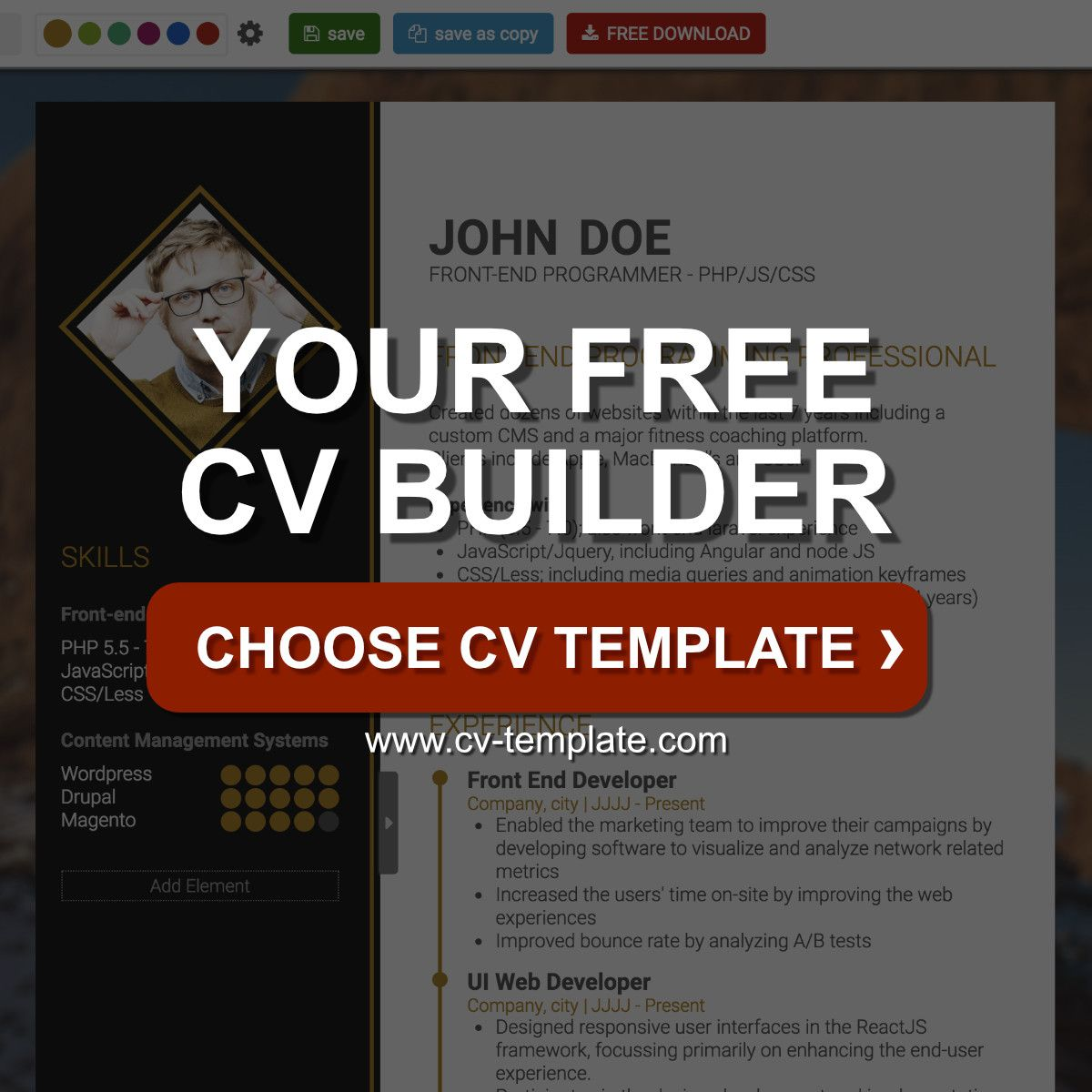 Are you looking for the perfect CV? Give yourself a