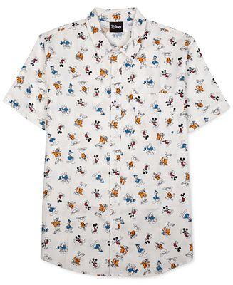 bb48f9d7 Jem Men's Disney Graphic-Print Short-Sleeve Shirt - Casual Button-Down  Shirts - Men - Macy's
