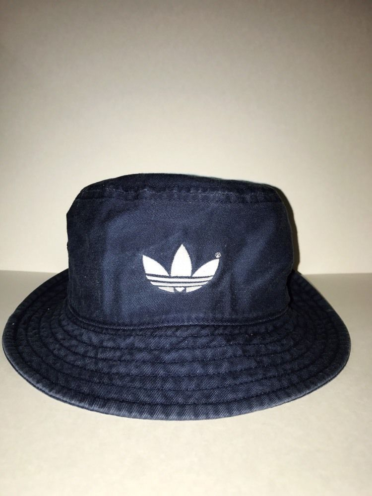 Vintage ADIDAS Fisherman Bucket hat Classic Navy Blue Retro Look 100%  cotton  adidas  Bucket daff93bfe6a