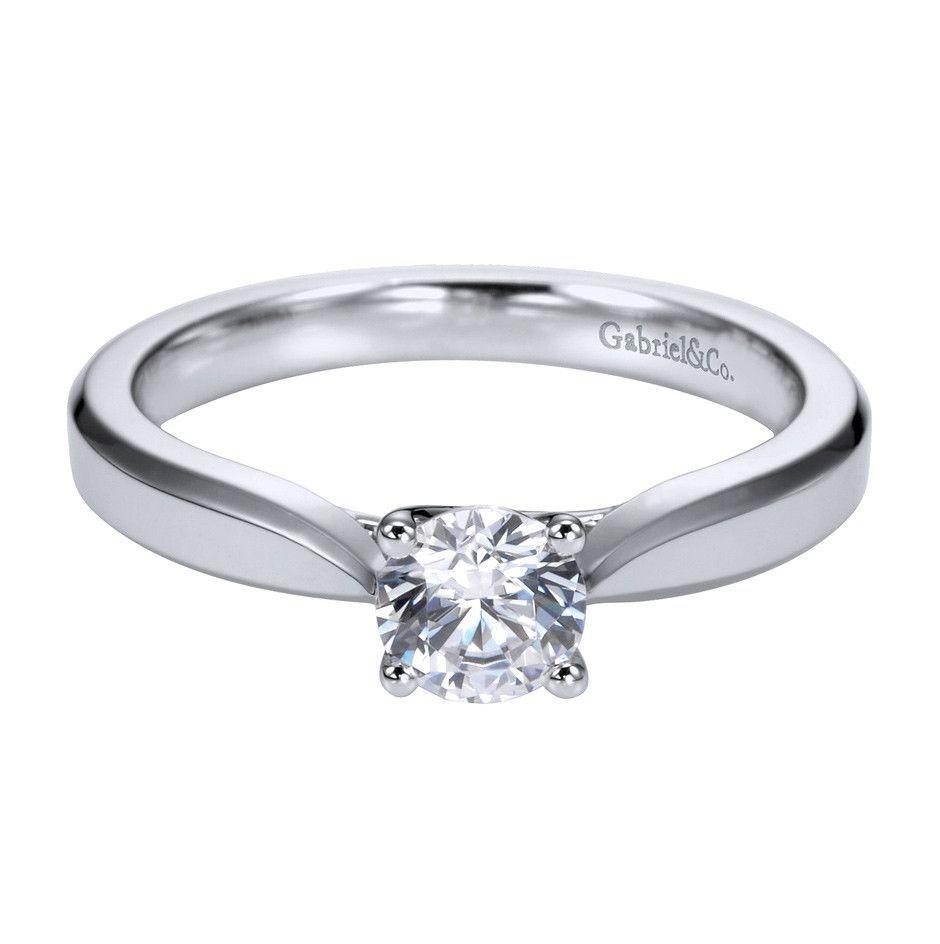 Gabriel & Co Platinum Solitaire Engagement Ring Setting ER6590PTJJJ