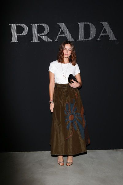 Kasia Smutniak attends the Prada Resort 2017 show during Milan Men s  Fashion Week SS17 on June 19, 2016 in Milan, Italy.  FROW 7729c293ed