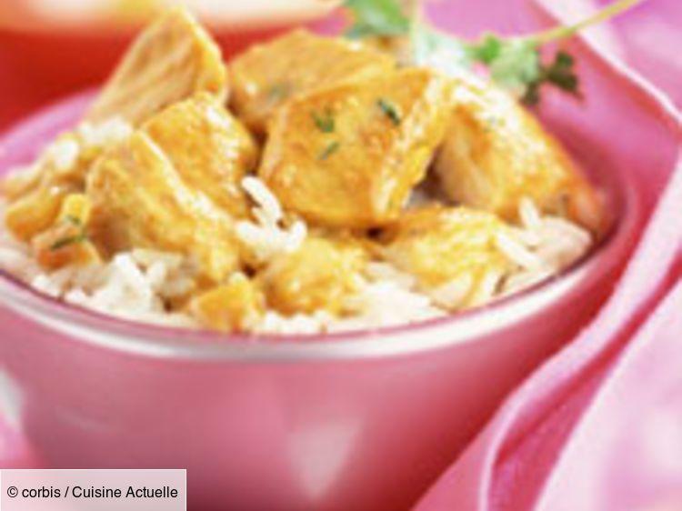 Curry de poulet au riz basmati