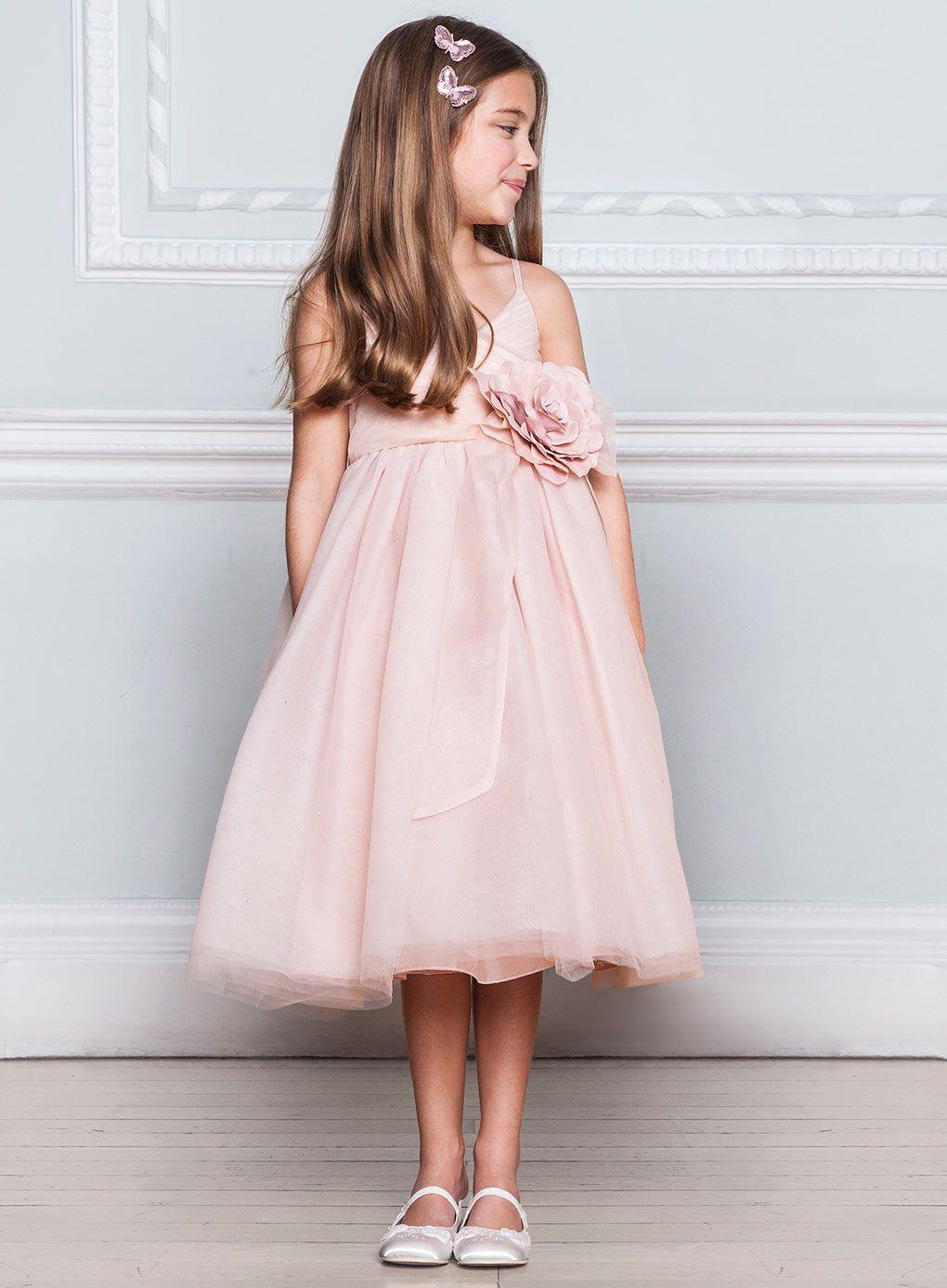 Lydia Blush Bridesmaid Dress - child dresses - young ...