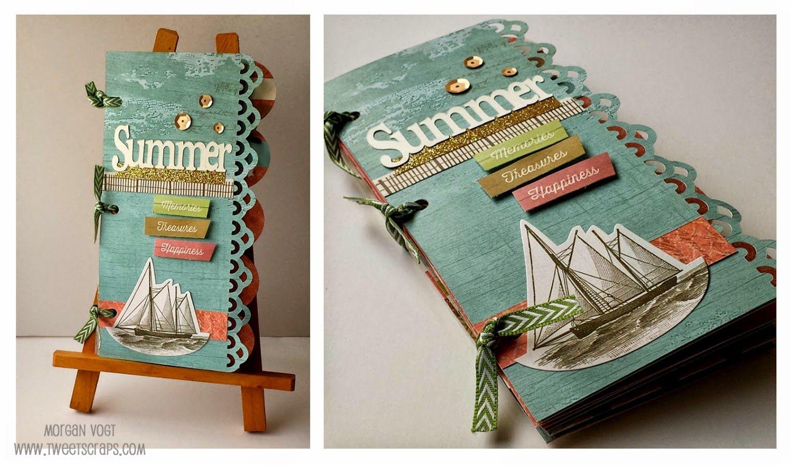 TweetScraps: New Product Blog Hop - Seaside Artbooking Mini-Album