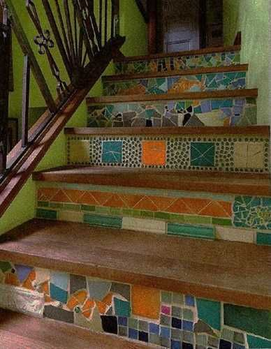 20 Unusual Interior Decorating Ideas for Wooden Stairs in