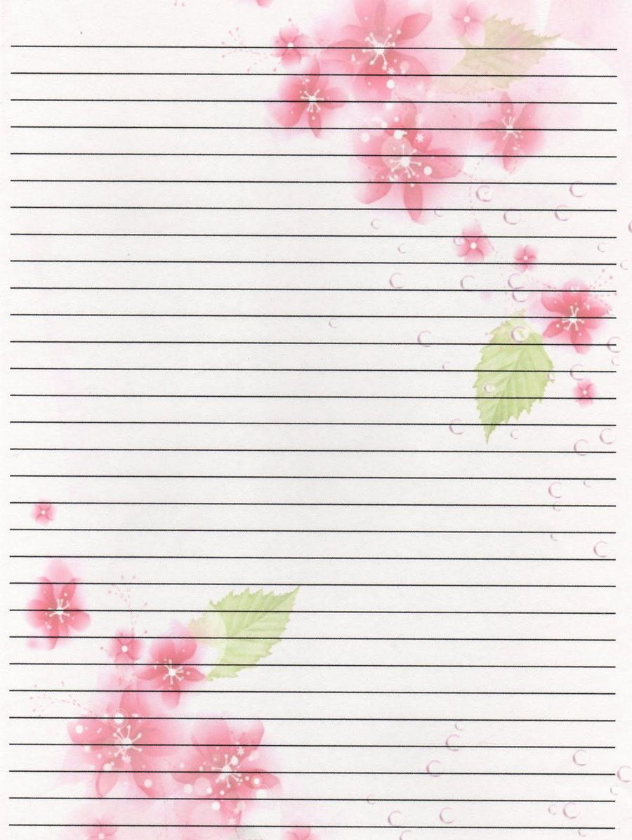 It's just a picture of Stupendous Pretty Lined Paper