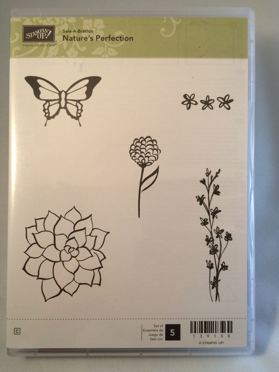 Nature's Perfection Stampin Up set by catscardsandcoffee on Etsy