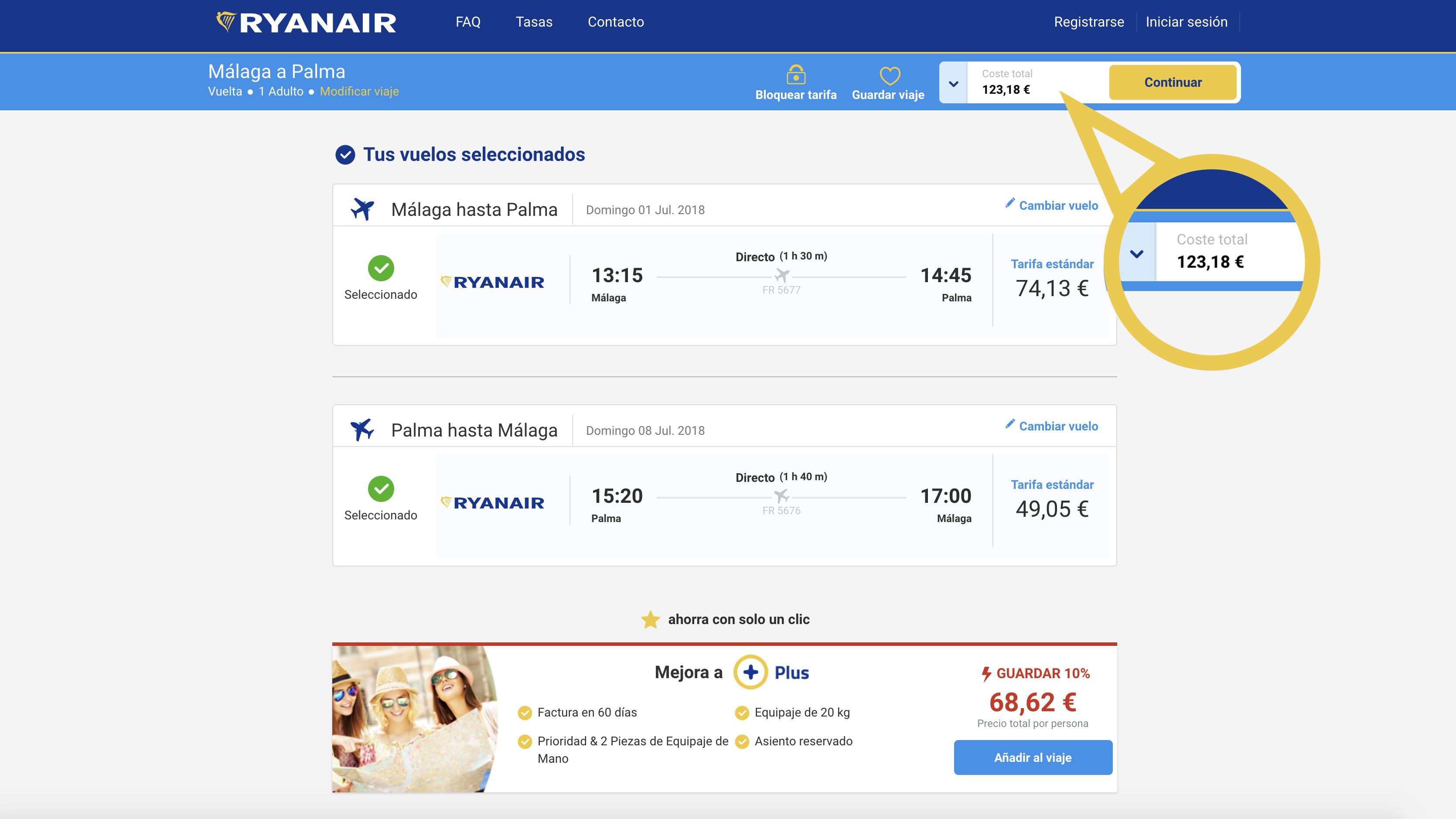 Vuelos baratos Ryanair