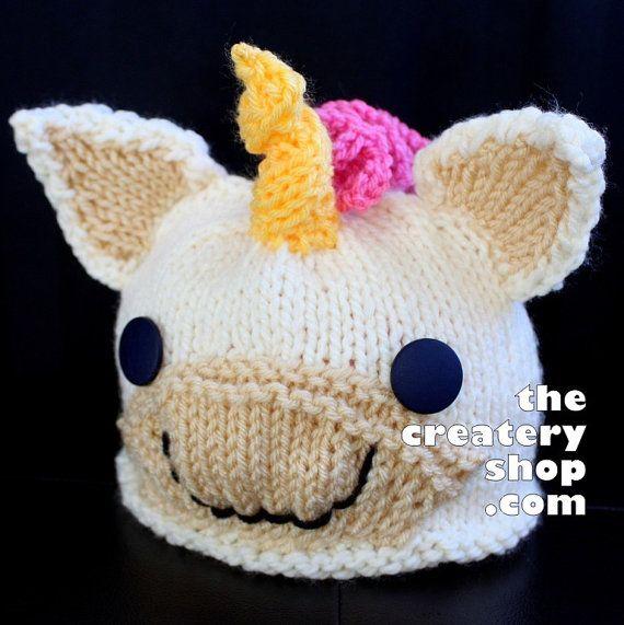 b41bcd1157c Knitting Pattern Cute Baby Unicorn Hat PDF by createry on Etsy ...