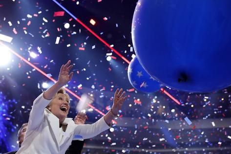 size: 24x16in Photographic Print: DEM 2016 Convention by Carolyn Kaster :