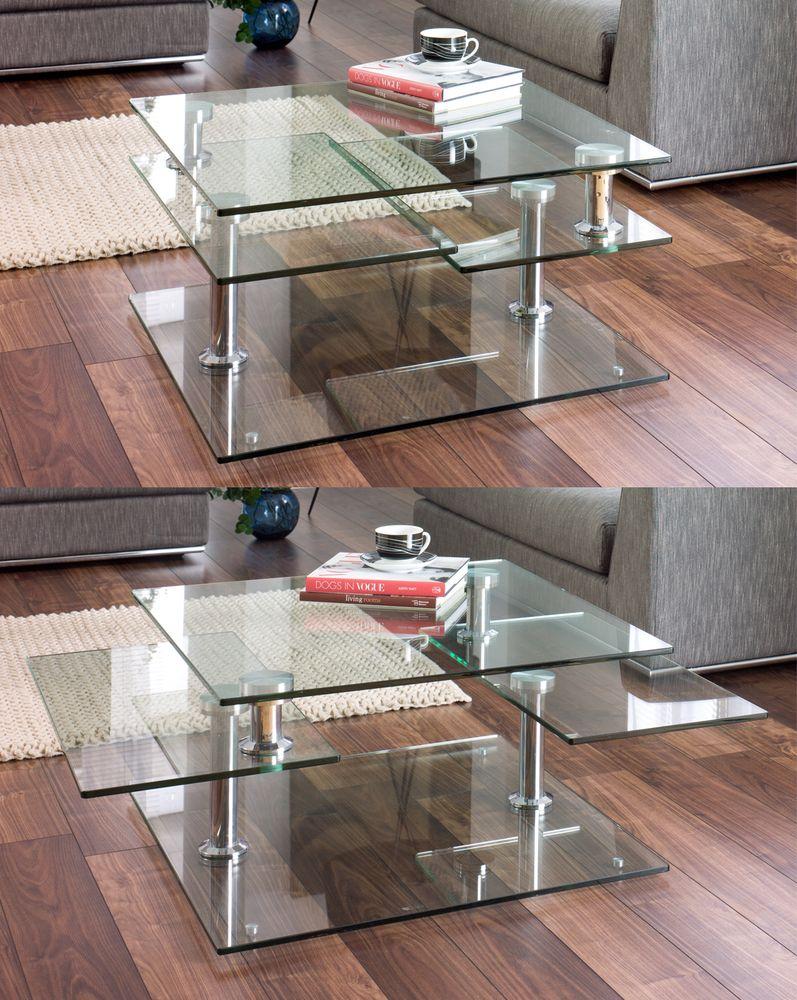 motab extending glass coffee table