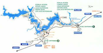 Map Of Plitvice Lakes ENLARGED MAP ROUTE E Httpwww - Croatia interactive map