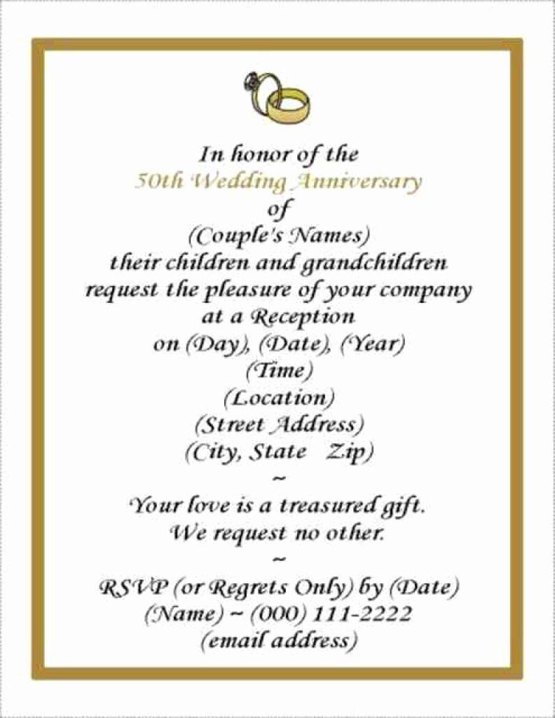 Wedding Anniversary Invitation Template Awesome Free Wedding An 50th Wedding Anniversary Invitations Anniversary Party Invitations 50th Anniversary Invitations