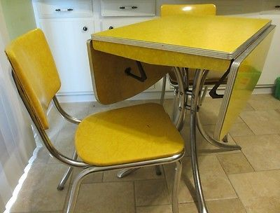retro dining table with leaf vintage drop leaf yellow formica chrome dining table with 7778