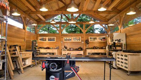 d9a2bd3d93e5 Alaskan Timber-Frame Workshop - Fine Homebuilding | Shops of envy in ...