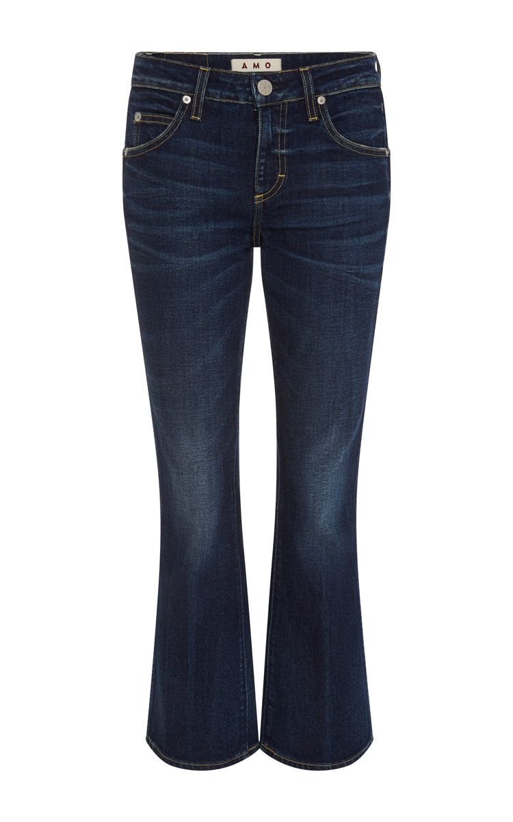 AMO True Blue Flared Mid-Rise Jane Jeans. #amo #cloth #jeans