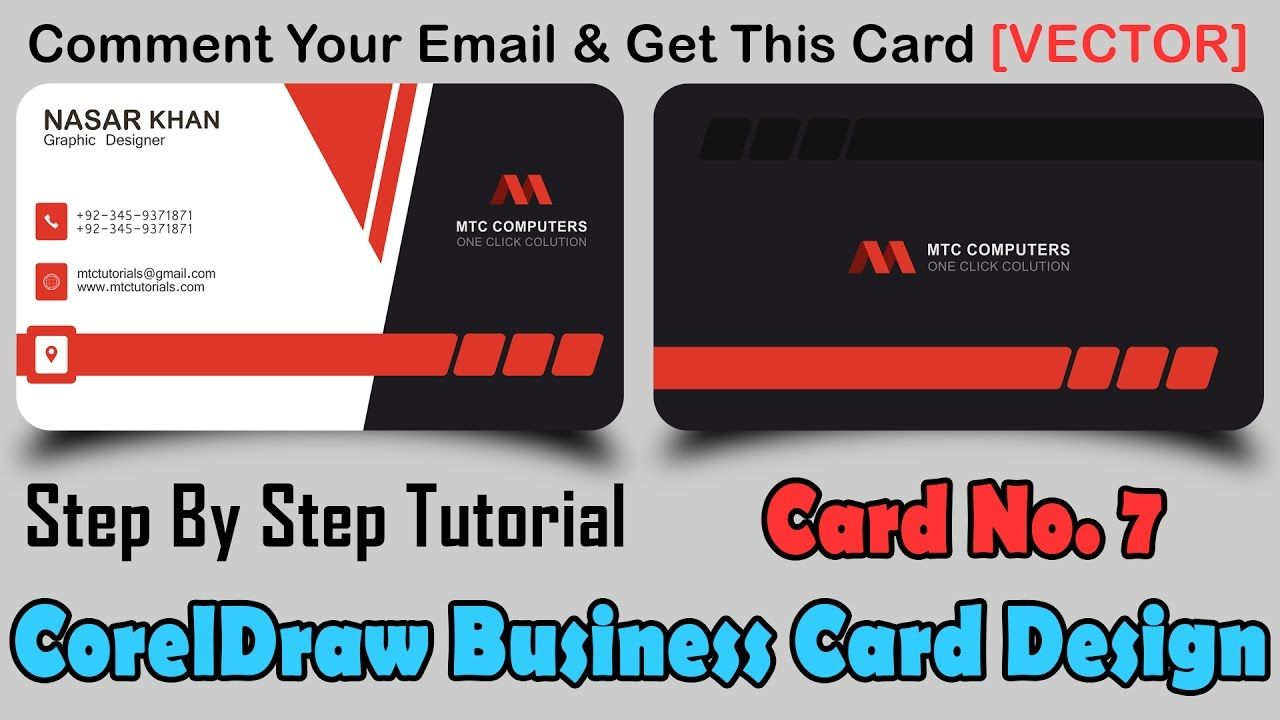 Coreldraw visiting card - Hwo To Make Professional Business Card In Coreldraw Card No7