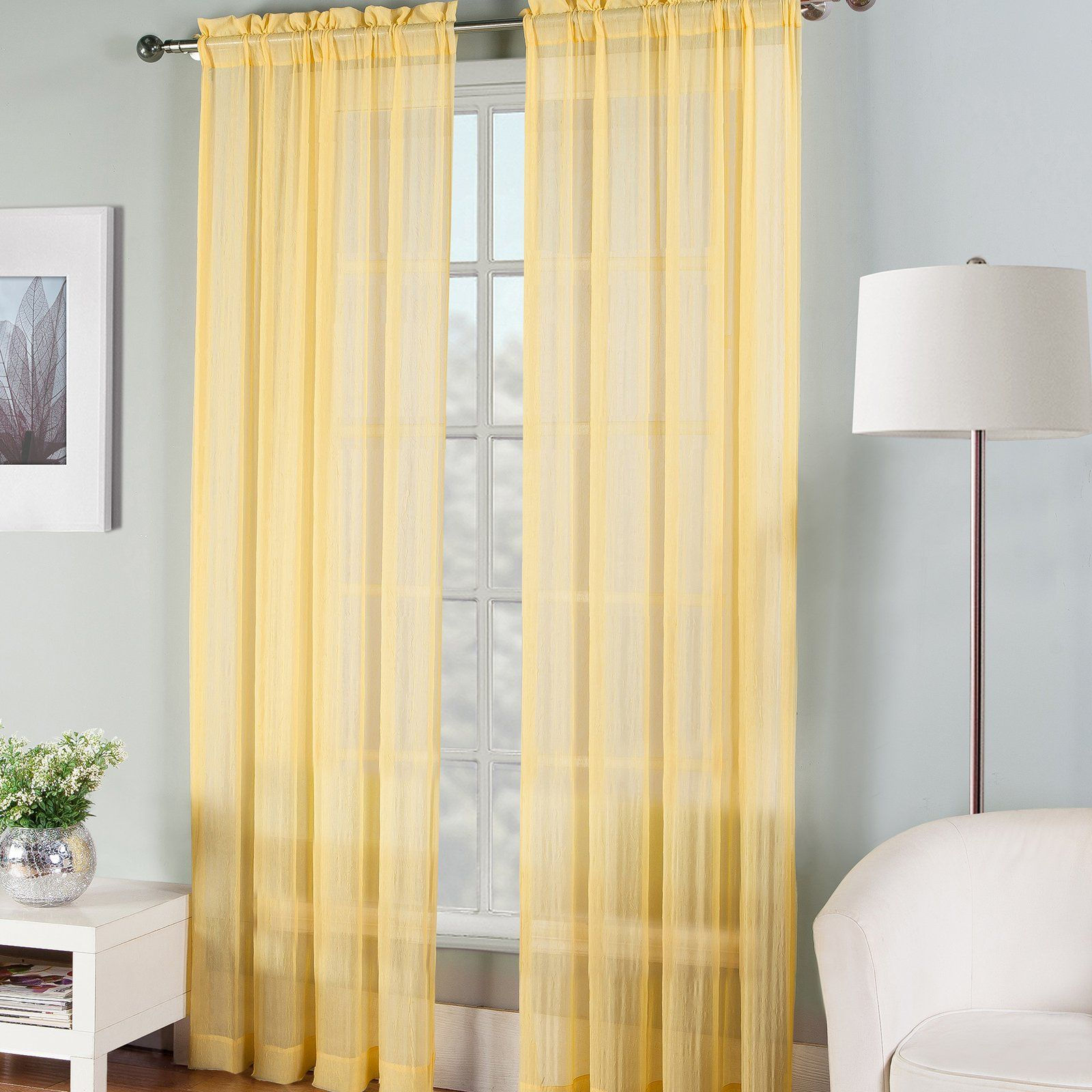 Fiesta Bedding Solid Sheer Window Curtain Panel Turquoise Size