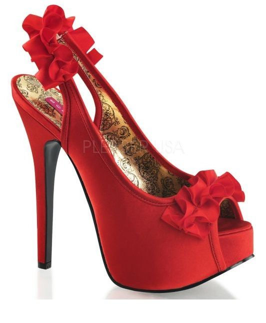 Chaussures Pleaser rouges femme  23 EU OArcgMB