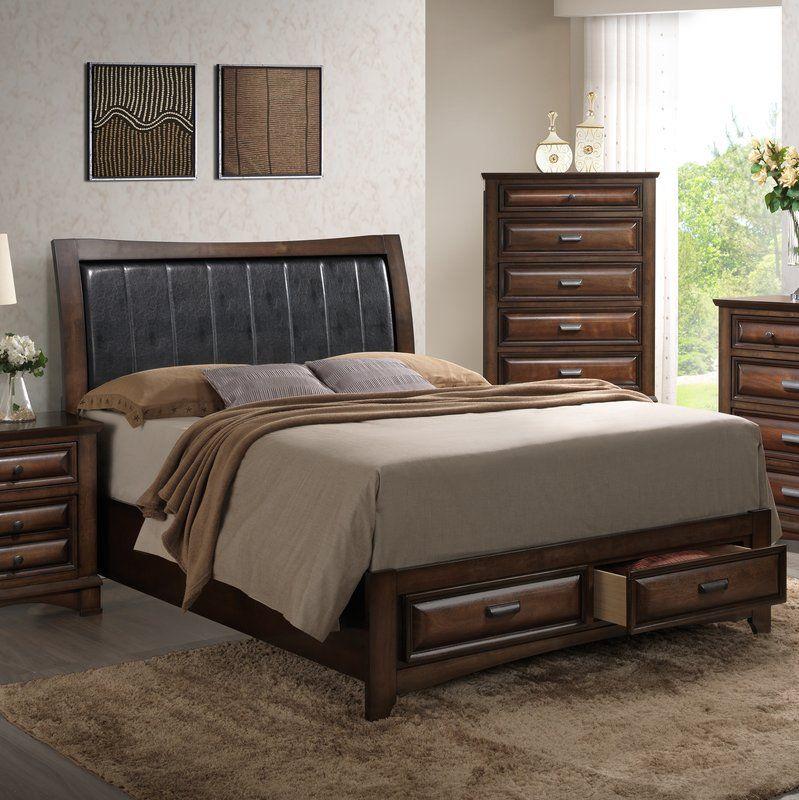Broval Upholstered Storage Platform Bed Queen size bed