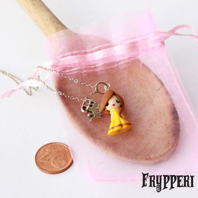 Mini Belle #fimo #handmade #polymerclay #belle #labellaelabestia #disney #principesse  www.frypperi.it www.facebook.com/frypperi