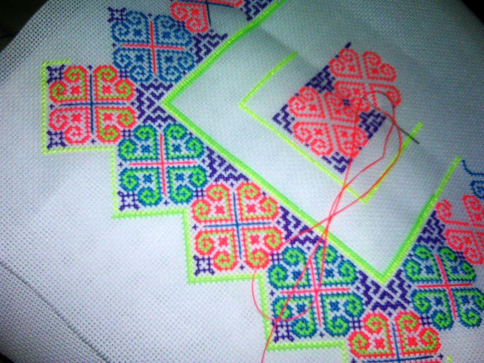 K p quot i am hmong hmoob pinterest cross stitch