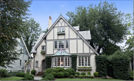 This tudor style color of exterior paint is most similar - Tudor revival exterior paint colors ...