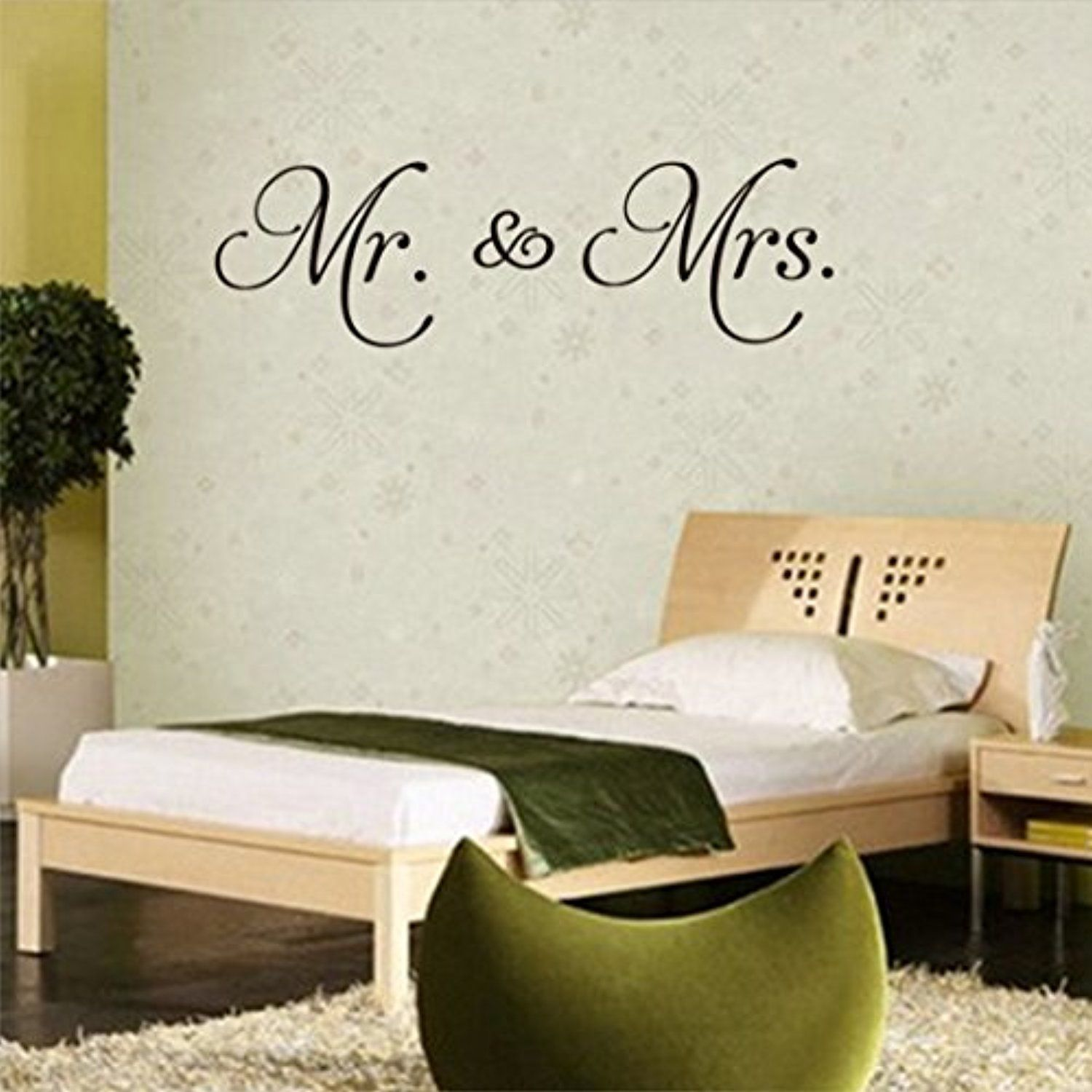 Mr Mrs Love English Proverbs Bedroom Living Room Decorative Pvc