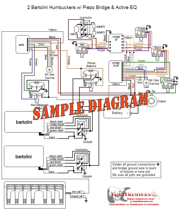 Wonderful Active Electric Bass Wiring Diagrams Images - Electrical ...